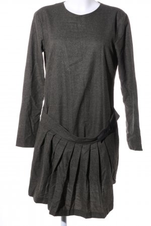 Zara Woman Minikleid hellgrau meliert Casual-Look