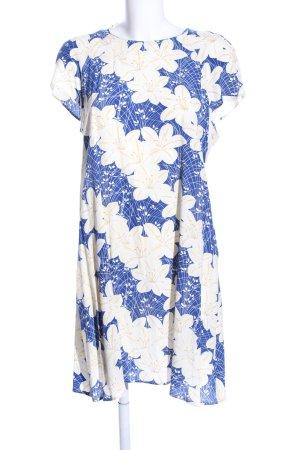 Zara Woman Minikleid Allover-Druck Casual-Look
