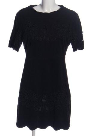Zara Woman Minikleid schwarz Schriftzug gestickt Business-Look
