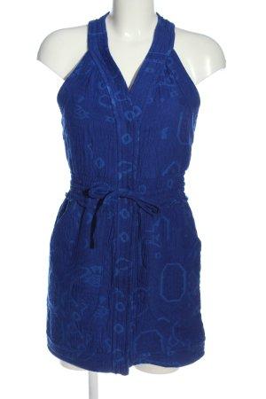 Zara Woman Minikleid blau Allover-Druck Casual-Look