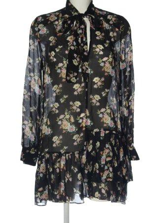 Zara Woman Minikleid Allover-Druck Elegant
