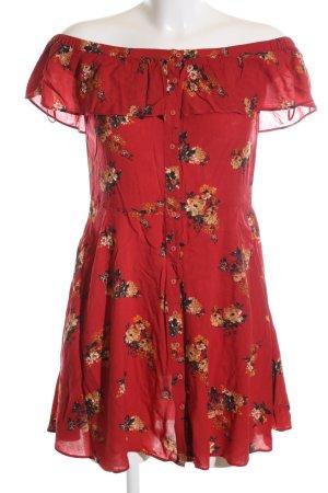 Zara Woman Minikleid Allover-Druck