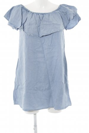 Zara Woman Minikleid himmelblau Casual-Look