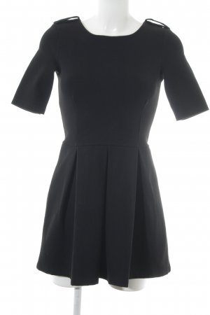Zara Woman Minikleid schwarz Webmuster Casual-Look