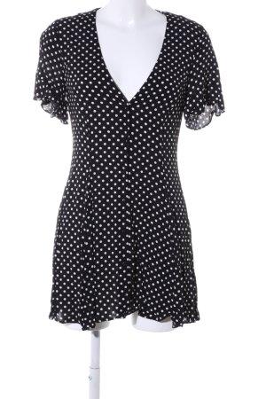 Zara Woman Minikleid schwarz-weiß Allover-Druck Casual-Look