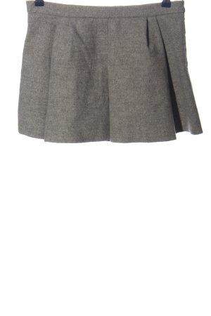 Zara Woman Minirock hellgrau meliert Casual-Look