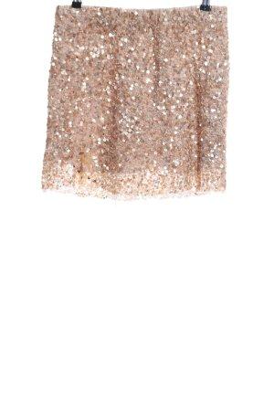 Zara Woman Minirock goldfarben Elegant