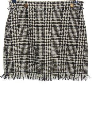 Zara Woman Minirock schwarz-weiß Karomuster Business-Look