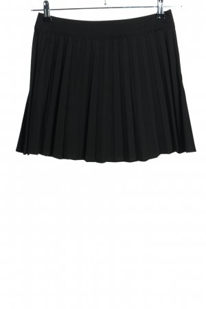 Zara Woman Minirock schwarz Streifenmuster Casual-Look