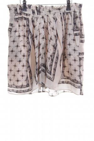 Zara Woman Minirock creme Allover-Druck Casual-Look