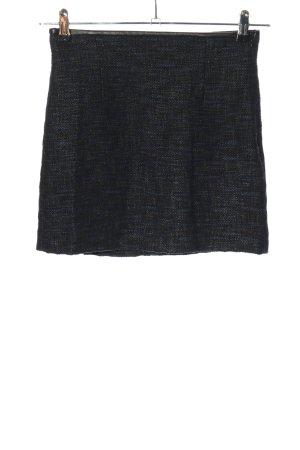 Zara Woman Minirock schwarz-blau Casual-Look