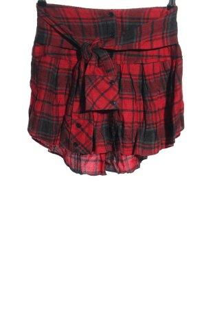 Zara Woman Minirock rot-schwarz Allover-Druck Casual-Look