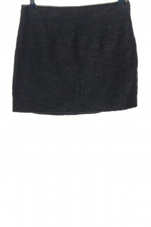 Zara Woman Minirock hellgrau-blau meliert Business-Look