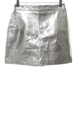 Zara Woman Minirock silberfarben extravaganter Stil
