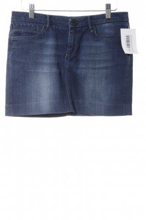 Zara Woman Minirock blau Washed-Optik