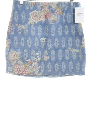 Zara Woman Minirock Blumenmuster Casual-Look
