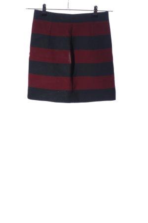 Zara Woman Minirock schwarz-rot Streifenmuster Business-Look