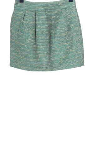 Zara Woman Minirock grün-hellgrau meliert Casual-Look