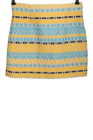 Zara Woman Minirock grafisches Muster Casual-Look