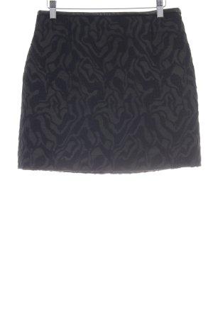 Zara Woman Minirock schwarz-dunkelblau abstraktes Muster klassischer Stil