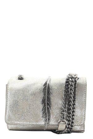 Zara Woman Minitasche silberfarben Elegant