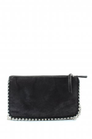 Zara Woman Minitasche schwarz-silberfarben Casual-Look