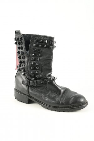 Zara Woman Botas moteras negro look casual