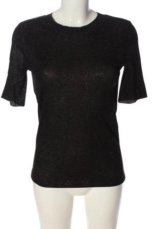 Zara Woman Koszulka o kroju podkreślającym sylwetkę czarny W stylu casual