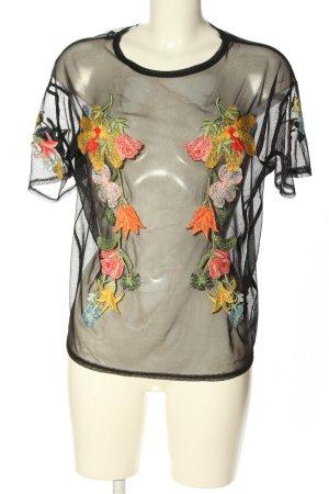 Zara Woman Netshirt veelkleurig casual uitstraling