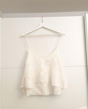 Zara Woman Camisoles white-oatmeal
