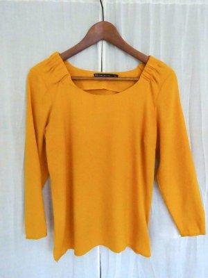 Zara Woman Oberteil gelb Größe S