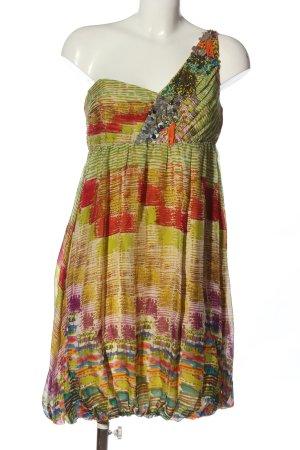 Zara Woman Robe asymétrique Mélange de motifs style décontracté