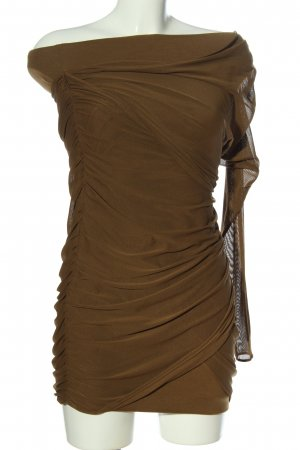 Zara Woman One Shoulder Dress brown elegant