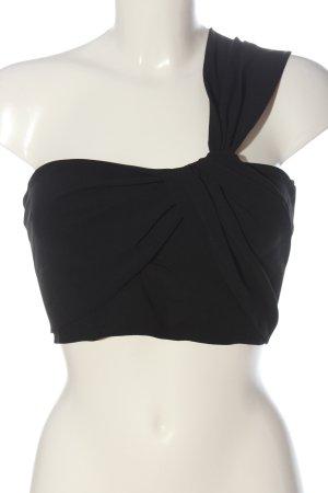 Zara Woman One-Shoulder-Top schwarz Casual-Look