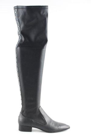 Zara Woman Stivale cuissard nero stile casual