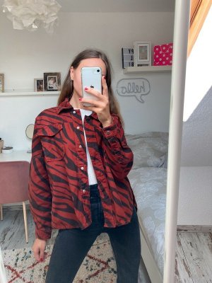 Zara Woman Kurtka oversize Wielokolorowy Bawełna