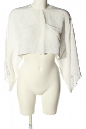 Zara Woman Oversized Blouse natural white quilting pattern casual look