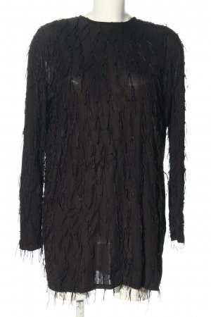 Zara Woman Oversized Bluse schwarz Elegant