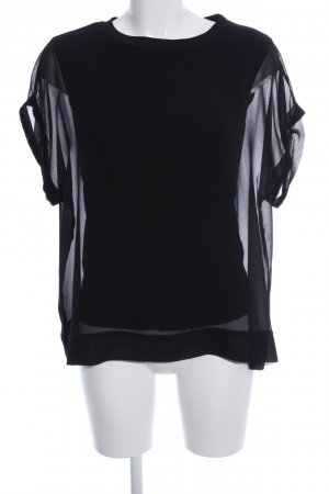 Zara Woman Oversized Bluse schwarz Business-Look