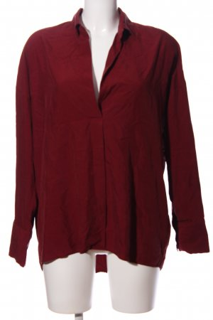 Zara Woman Oversized Bluse rot Business-Look