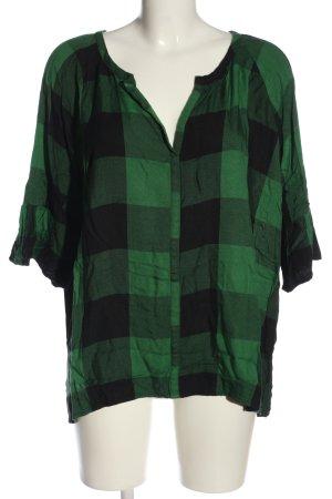 Zara Woman Oversized Blouse black-green check pattern casual look
