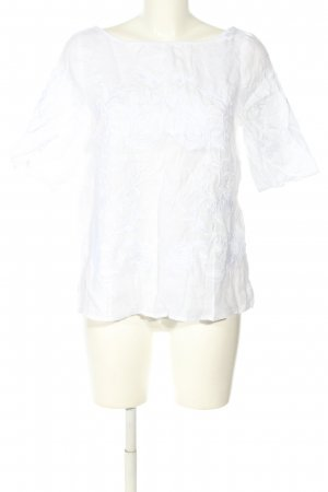 Zara Woman Oversized Bluse weiß Casual-Look