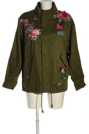 Zara Woman Kurtka oversize khaki W stylu casual