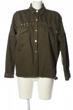 Zara Woman Oversized Jacke khaki Casual-Look