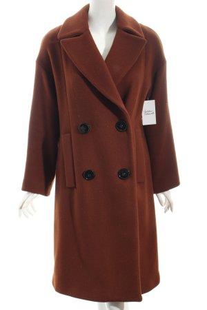 Zara Woman Abrigo de lana marrón