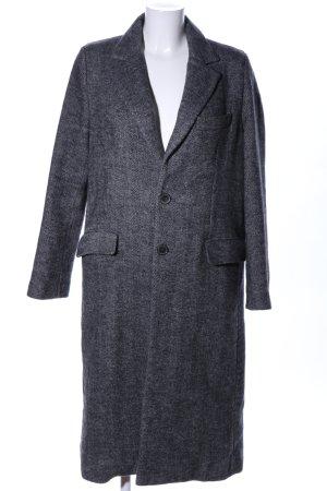 Zara Woman Oversized Mantel schwarz meliert Casual-Look