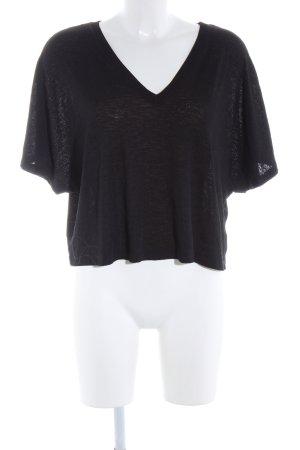 Zara Woman Camicia oversize nero stile casual