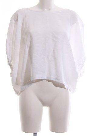 Zara Woman Oversized Shirt weiß Casual-Look