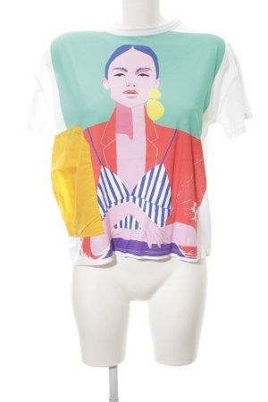 Zara Woman Oversized Shirt Colourblocking Casual-Look
