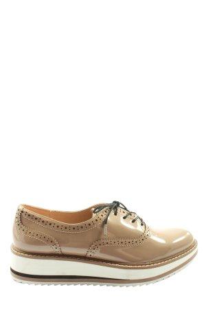 Zara Woman Oxfordy kremowy W stylu casual